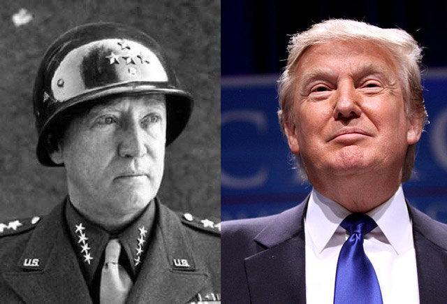 Donald Trump i američki general George Patton