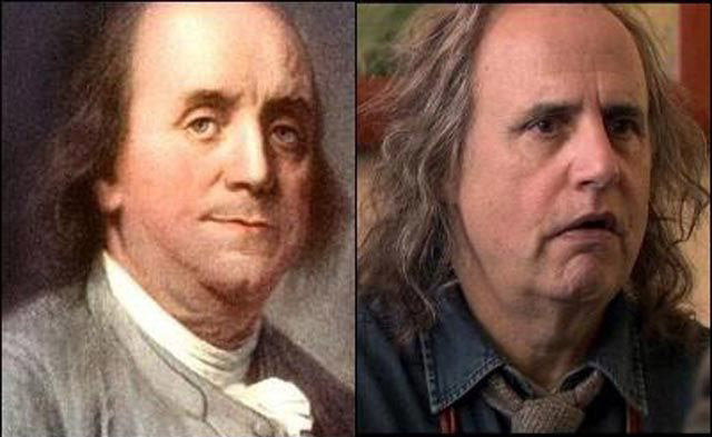 Jeffrey Tambor i Benjamin Franklin