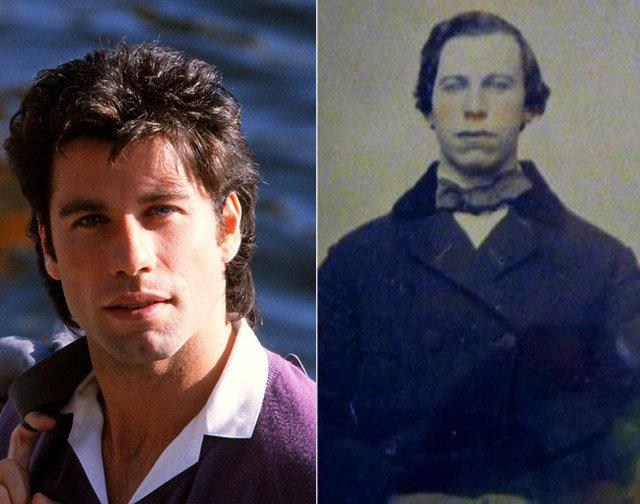 John Travolta i nepoznati muškarac iz 19. veka