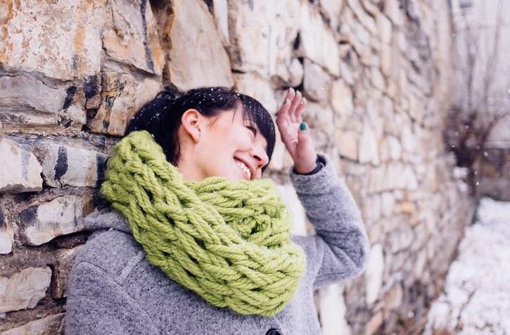pleteni šal