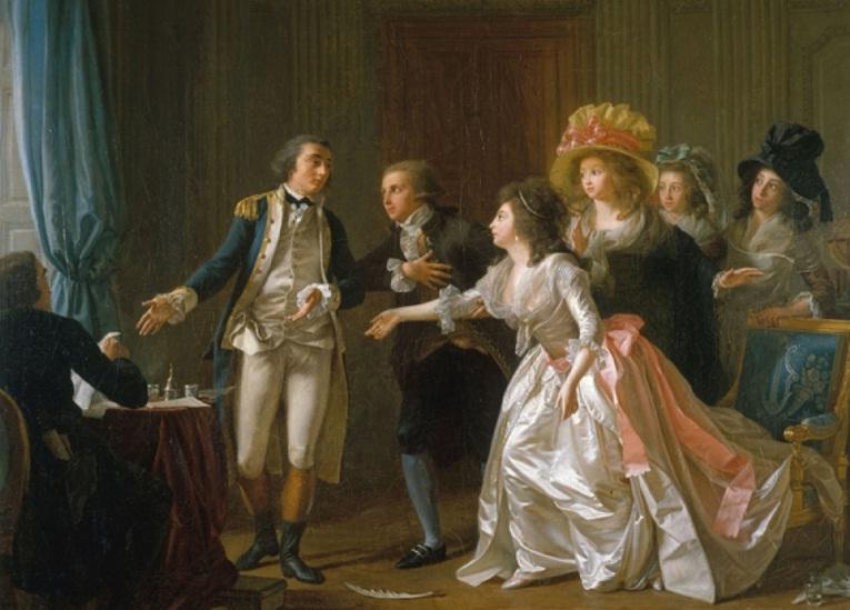 ''Ljubavni ugovor'', slika Mišela Garnijea iz 1780. godine, koja prikazuje šta znači ugovoreni brak