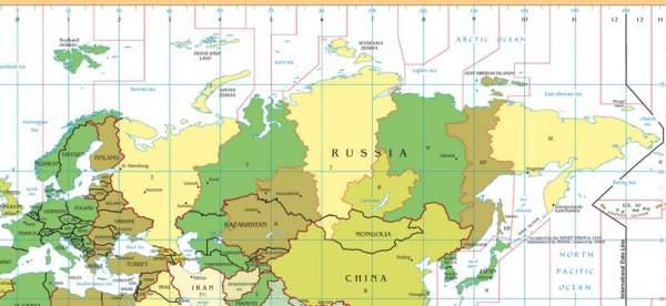 vremenske zone rusija1