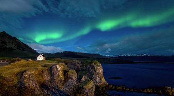 polarna svetlost island