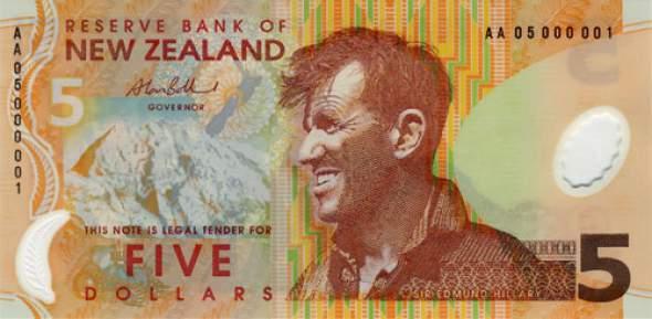 pet novozelandskih dolara
