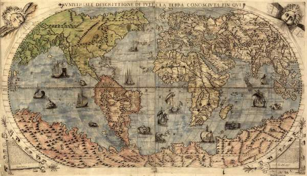 stara mapa zemlje
